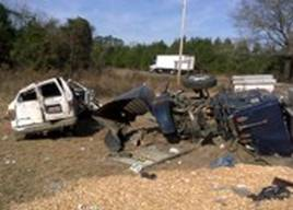 Three of the van passengers suffered fatal injuries in the truck accident and were pronounced dead at the scene.
