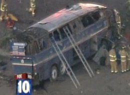 The bus was carrying 21 passengers. All those killed and injured were on the bus.