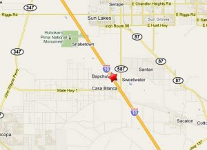 Location of fatal bus crash 7 miles south of Rigs Rd near Phoenix Arizona