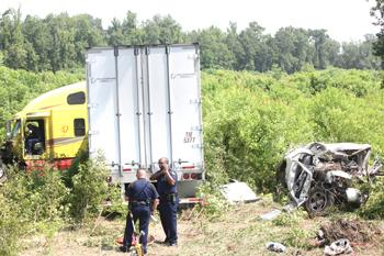 Driver Charged in Truck Accident that Killed Four in Louisiana
