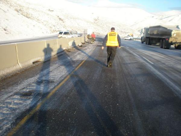 Fatal Truck Accident on I-84 in Huntington Oregon - Truck