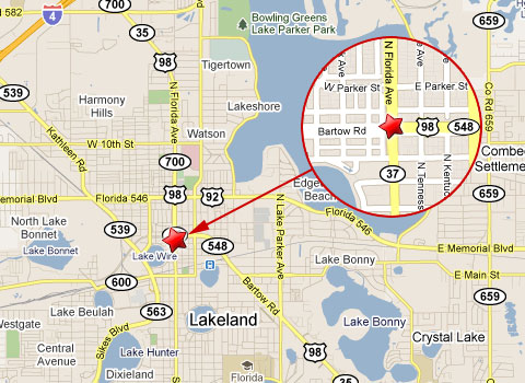 Lakeland Florida Map.Lakeland Man Crashes Suv Into Tractor Trailer Dies At Scene Truck