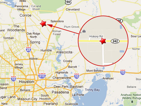 Porter Texas Map Semi Truck Sliced in Half in Porter Texas Collision   Truck