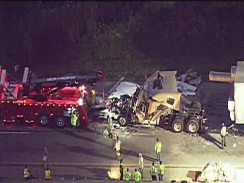 18 Wheeler Truck Driver Killed in 6 Vehicle Collision in Highland