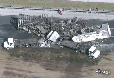 Semi Truck Accident on I-75 in Gainesville, FL Causes