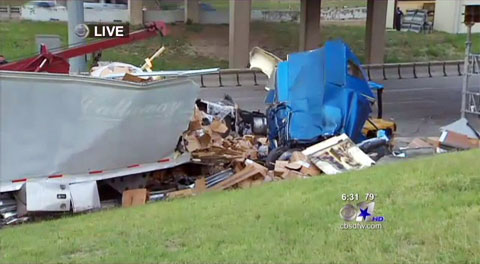 Truck Driver Killed in 18 Wheeler Accident on Dolphin Road Overpass on