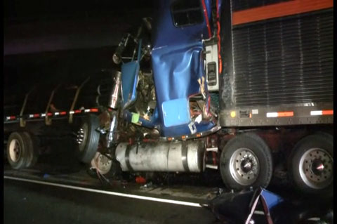 Prison Bus Slams Into Wrecker After a Fatal Texas Semi Truck