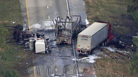 Semi Driver Dies in Multiple Vehicle Truck Accident on I-95