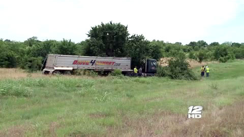 A semi truck driver was critically injured after crashing into some trees on Texas State Highway 289 in Gunter, TX on June 18,2013.