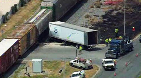 Semi Truck Hit by Train in San Antonio TX - Truck Accident Lawyer News