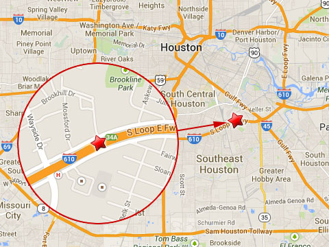 Houston Semi Truck Accident Snarls Traffic On I 610 South Loop